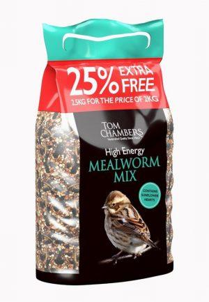 High Energy Mealworm – 25% FOC – 2.5kg