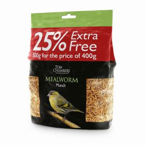 Mealworm Munch400g 25% FOC 500g Cat 3 ABP Not for human use