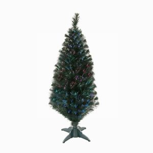 Artificial Christmas Tree 120cm classic green fibre optic