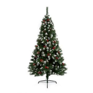 Artificial Christmas Tree 2.1M Snow Tipped Berry and Cone